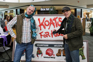 Koats for Kids kicks of with hot chocolate & hugs.