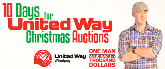 Ace Burpee's 10 Days for United Way Christmas Auctions.