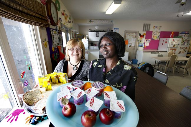 Debra & Mary at the Plessis Family Resource Centre.