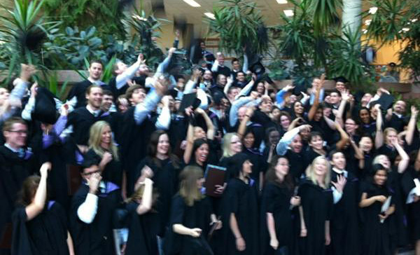 The University of Manitoba's School of Medicine graduating class of 2012.