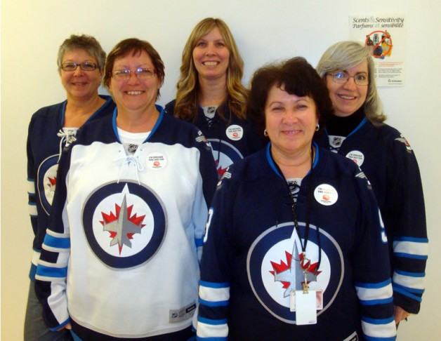 WRHA Employees on Jersey Day