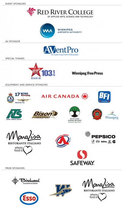 United Way of Winnipeg - Campaign 2013 - Plane Pull 10 Sponsors