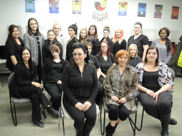 instructors and students from Scientific Marvel School of Beauty helped brighten up the lives of 39 low-income women.