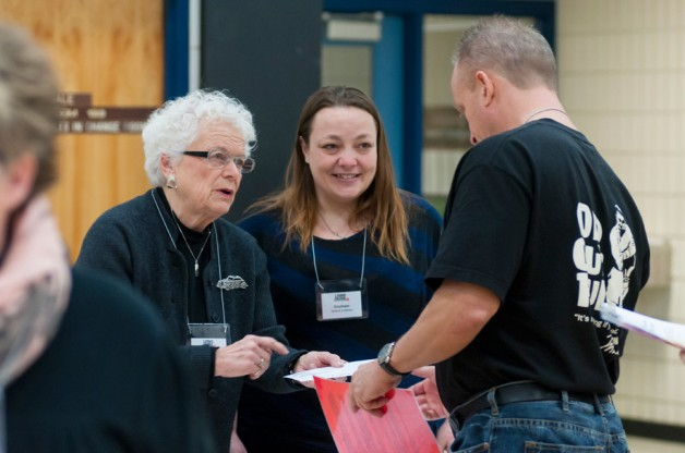 Volunteers at a Living On The Edge poverty simulation.