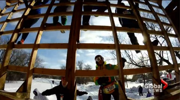 Ice Donkey participants race an extreme winter obstacle course while raising money for United Way.