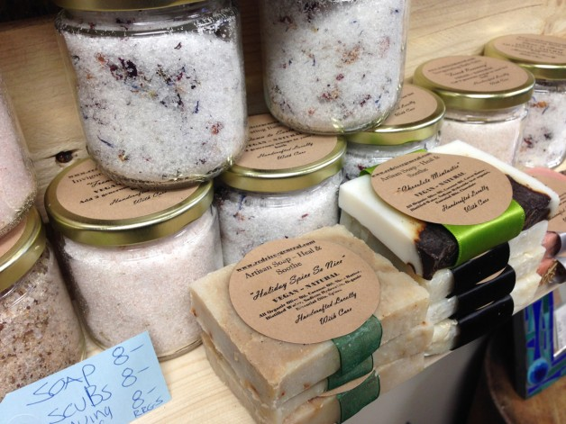 Handmade soaps and scrubs at The Scrap Came Back.