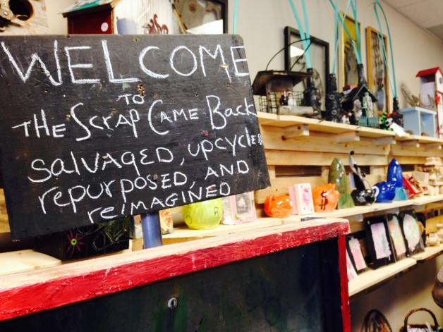 Welcome sign at the Scrap Came Back.