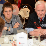 The Governor General at one of several Youth Engagement Roundtables conducted across Canada. In Winnipeg, Youth United volunteers had the chance to share their thoughts on creating a smart and caring nation. Photo courtesy of the Governor General's Office.