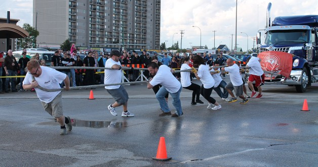 Blazing Bisons win the 5th Annual MTA Truck Pull for United Way!
