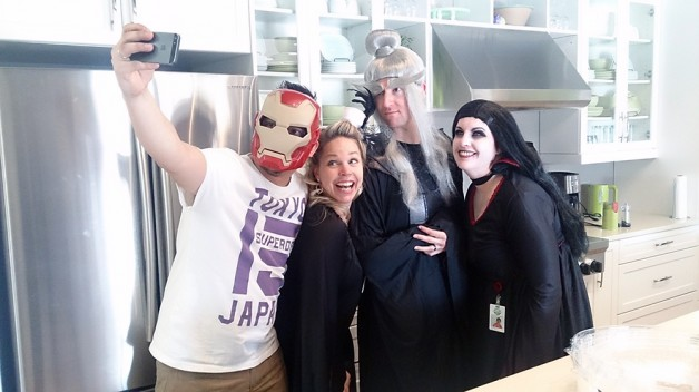 Iron Man Selfies at Manitoba Harvest Hemp Foods.