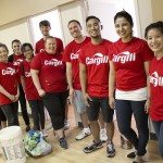 Cargill paints ISSA at a Day of Caring.