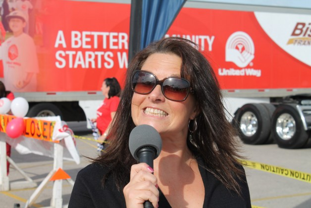 Laura La Palme, who does marketing and business development at MTA, organizes the annual truck pull with a smile.