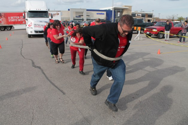 United Way Sponsored Executives tried their hand in the pull.