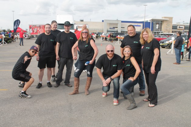 The Big Freight Systems team took second in the pull, but gets first for picture posing.