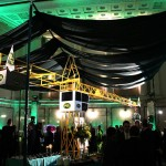 A PCL crane was the centrepiece in Celebration Hall.