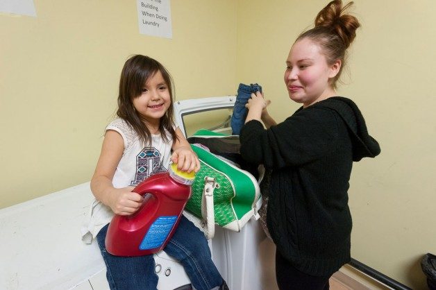 Doing laundry at the Andrews Street Family Centre in Winnipeg's North End