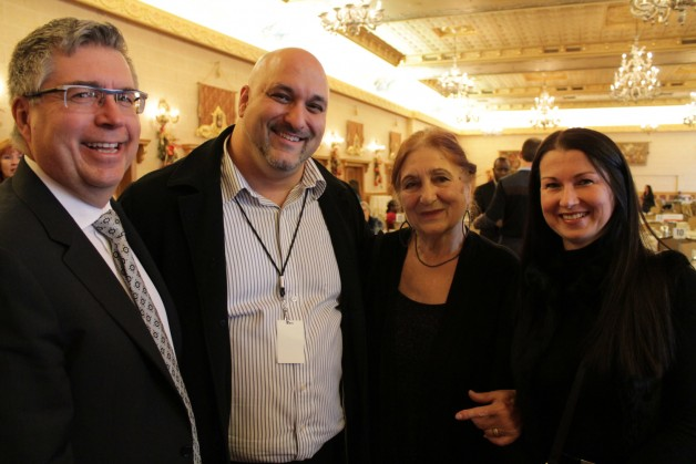 2015 Campaign Chair Kelvin Shepherd (left) poses with SE Valedictorian Zoran Vicovac and Zoran's mother Gina and wife Sylvia.