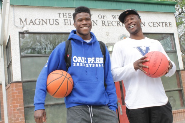 Will (left) and Junior Sesay in front of the recreation centre where they found belonging and mentorship through Spence Neighbourhood Association's United Way-supported Building Belonging program.