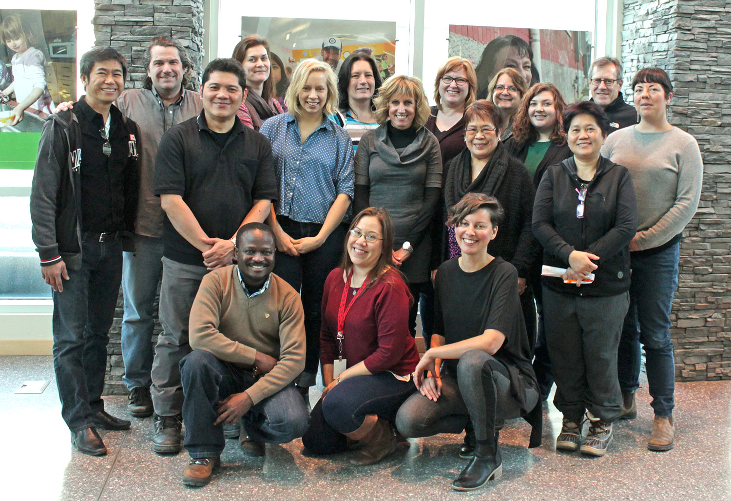 Jackie Hogue, front right, with her Strengthening Organizational Cultural Competency workshop participants.