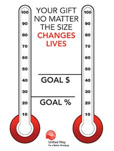 Double United Way goal thermometre.