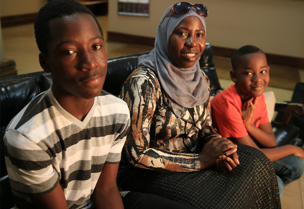 Malofo and her boys, Hassan & Ahmed.