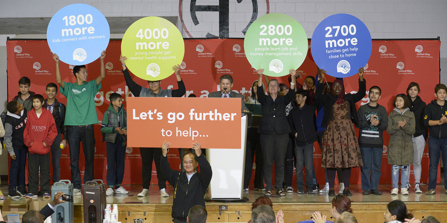 United Way's September 15, 2016 kickoff at Hugh John Macdonald School marked the beginning of the Three Years for a Better Winnipeg plan to bring more help to over 11,000 more people.