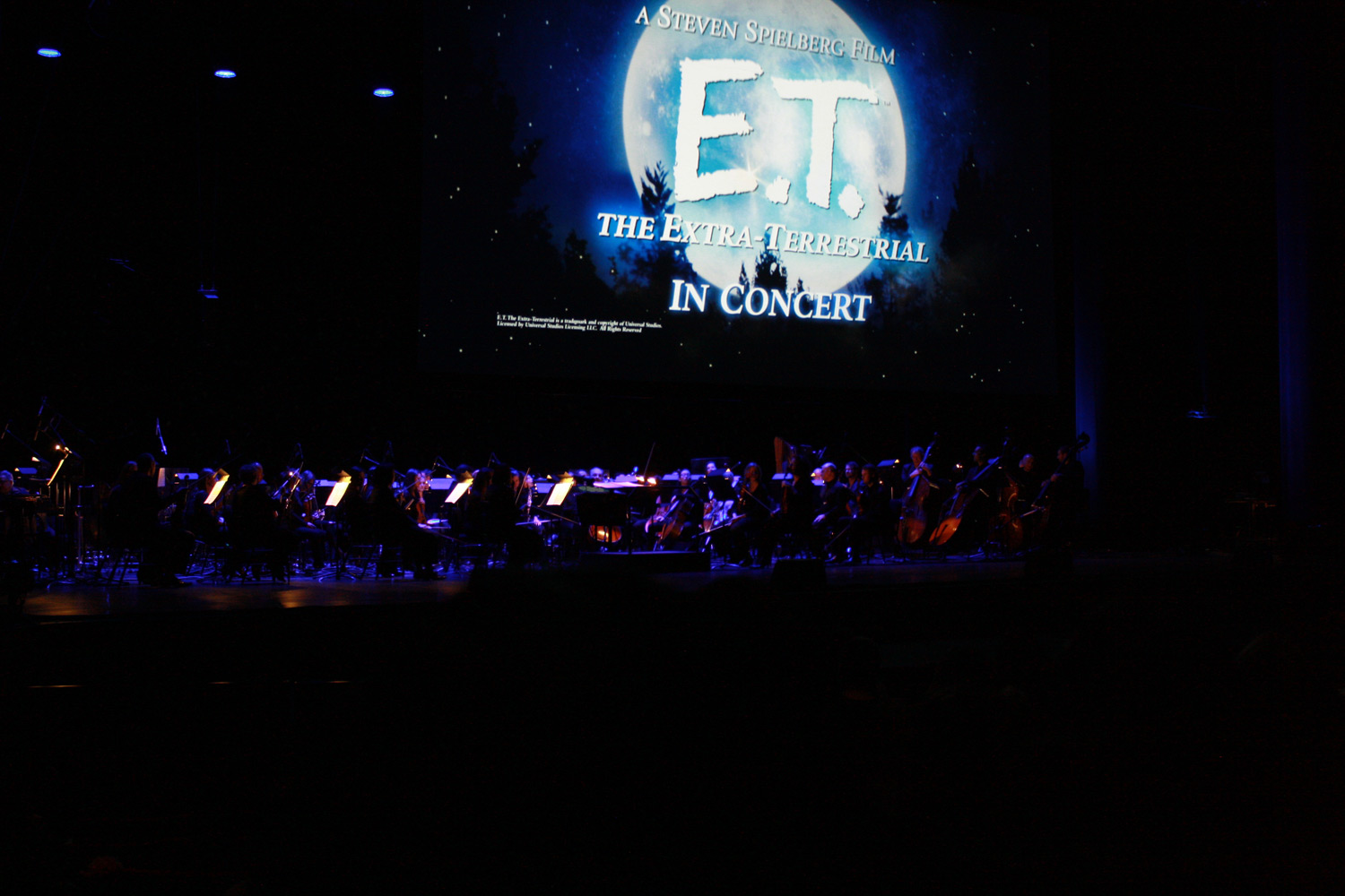 The Winnipeg Symphony Orchestra played in unison with the movie E.T. playing above them on a giant screen.