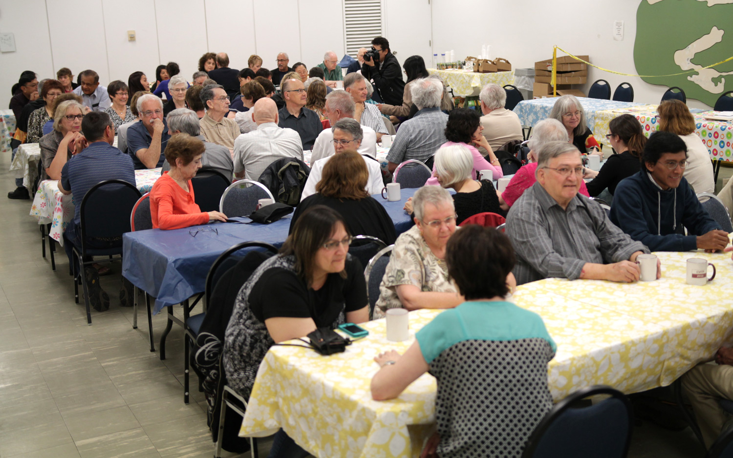 Volunteers enjoy an appreciation lunch last April. Many will be ready to help again this February!