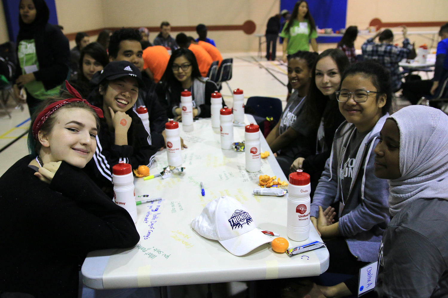 After choosing volunteer projects youth took a little time for ice-breaking and introductions.