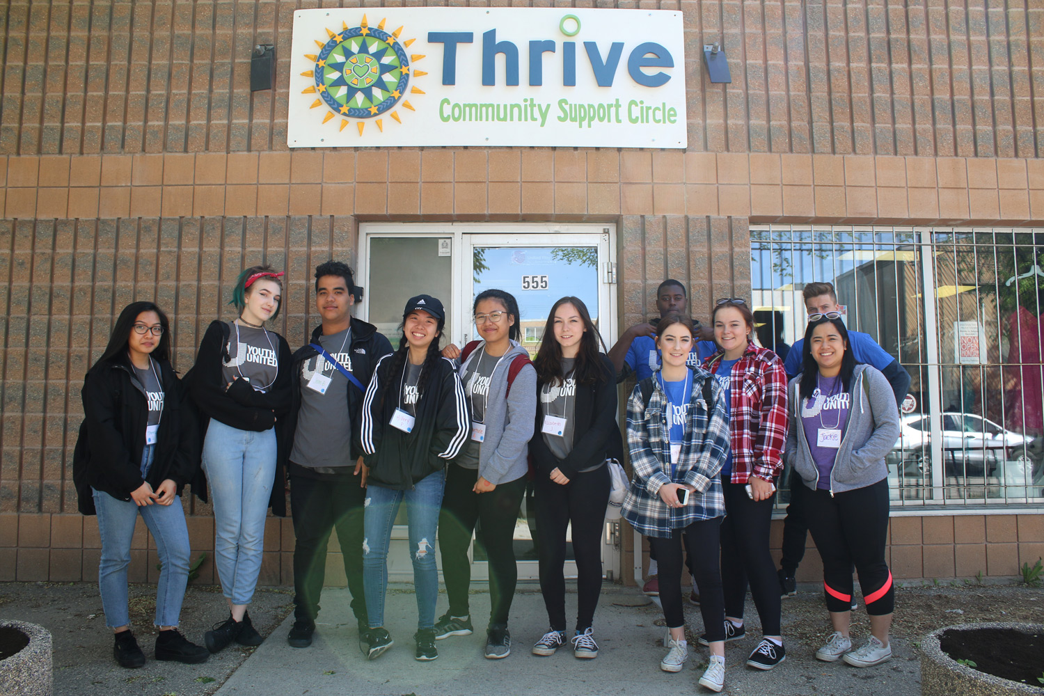 Youth volunteers at Thrive.