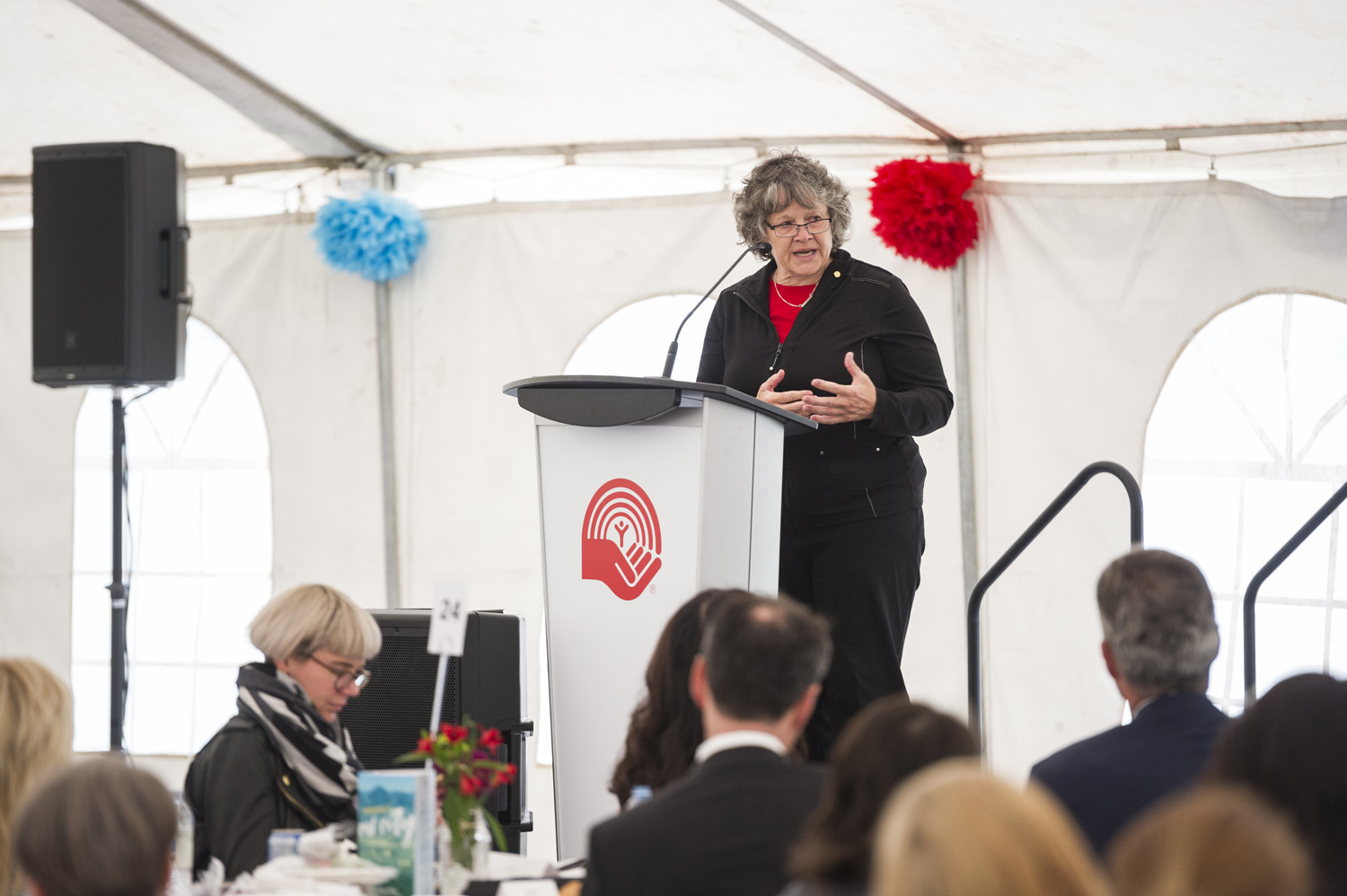 Marilyn McLaren, chair of United Way's volunteer Board of Trustees, gave thanks to the 100+ United Way-supported agency partners doing such critical work in our city.