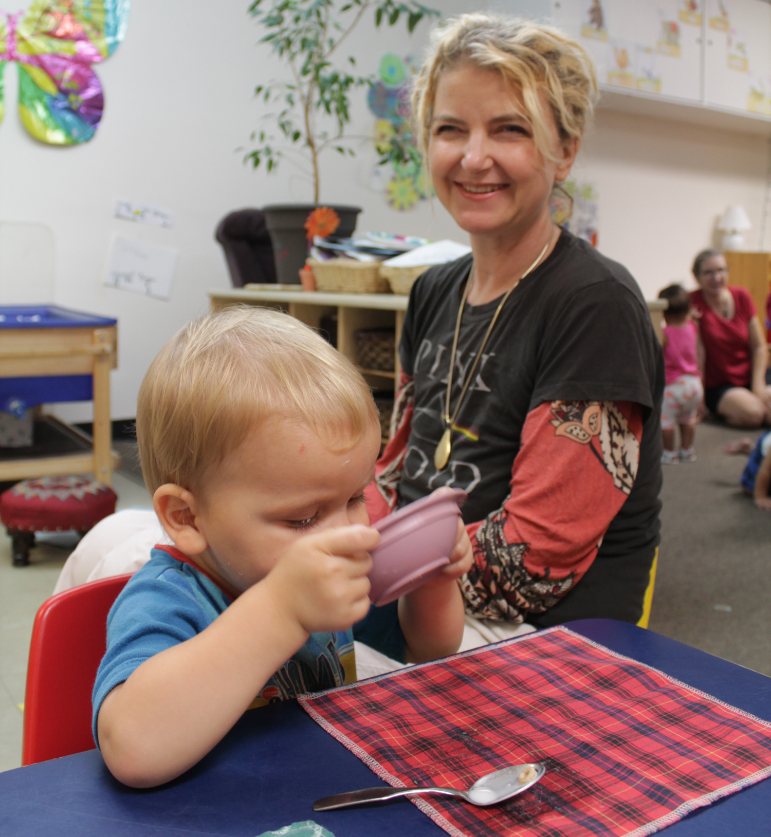 Wolseley Family Place, a United Way donor-supported family resource centre, has programing for prenatal health, parenting skills, and conflict resolution. Signe Knutson, a single mom with three kids, uses the respite daycare, where Peter can get a meal and play with other kids