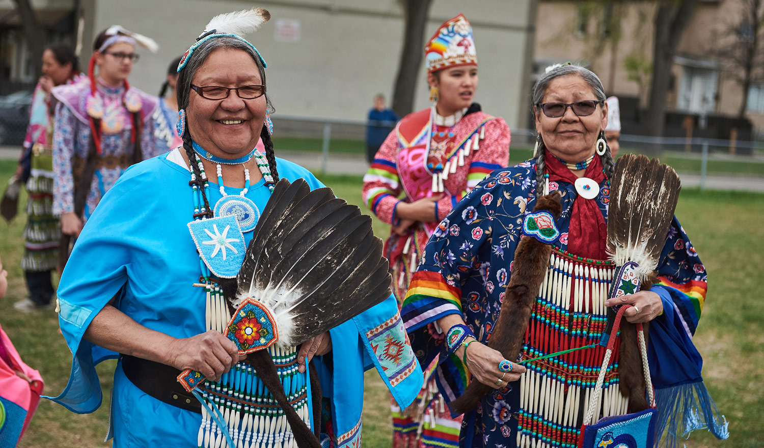 Women at Rossbrook House's Pow Wow.