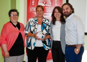 ART COULTER AWARD 2017: Deb Jones, Sandi Mowat, Connie Walker, and Bernie Wood