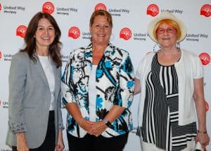 ART COULTER AWARD: Connie Walker, Sandi Mowat and Sandra Oakley