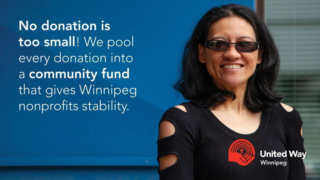 No donation is too small when it's pooled into Winnipeg's community fund!