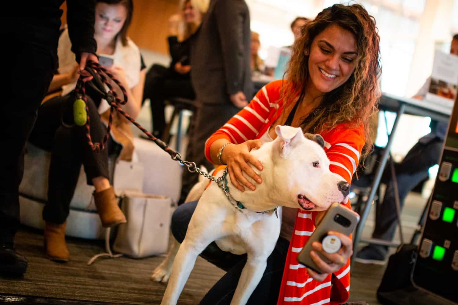 Presenting Sponsor Paywork's #PayItFWD booth was the site of a doggy adoption!