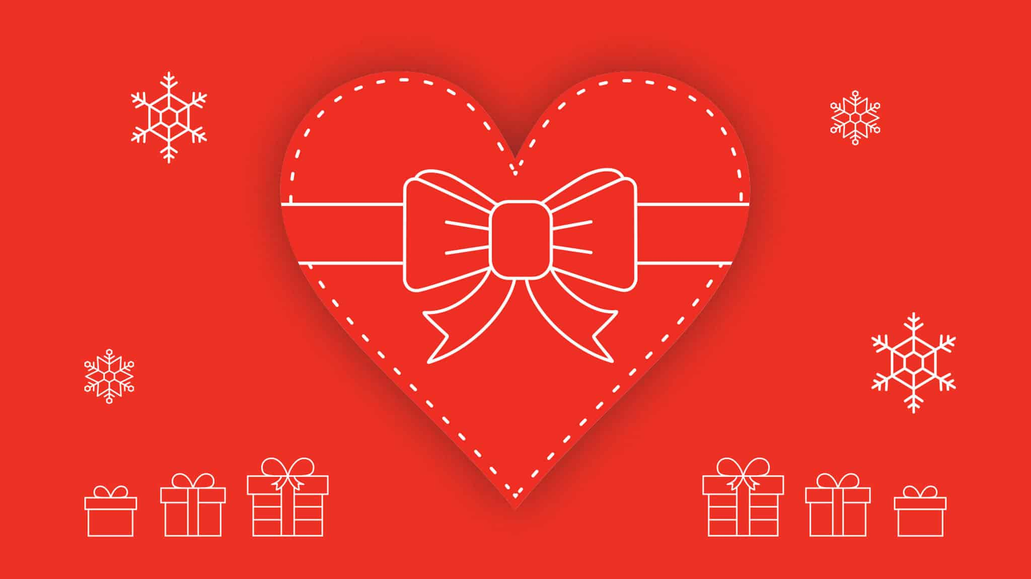gift-wrapped heart image