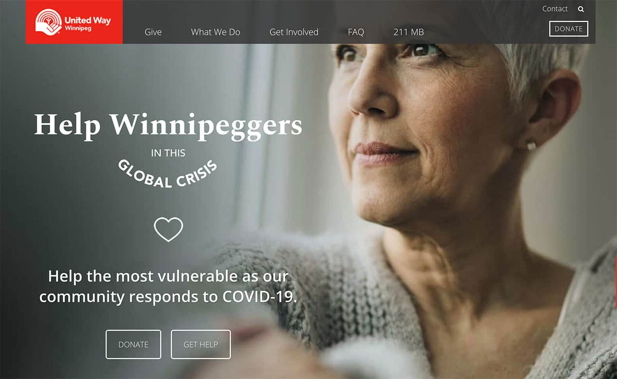 Donate now to help Winnipeg's most vulnerable through COVID-19.
